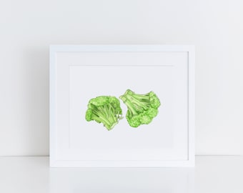 Vegetable Print - Broccoli Art Print - Kitchen Decor Wall Art - Kitchen Art - Original Art Print