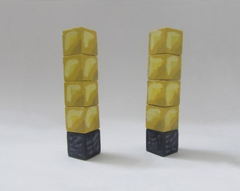 Tower of Pimps Hand Painted Wooden Blocks