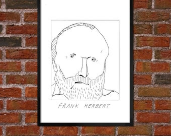Badly Drawn Frank Herbert - Literary Poster - *** BUY 4, GET A 5th FREE***