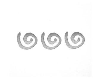 Texture Swirl Rubber Stamp   018109