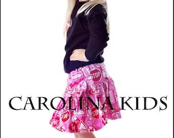 Hot Pink & Black CAROLINA KIDS Princess Zone Top and Twirl Skirt