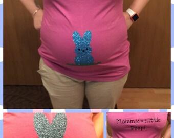 Mommy's Little Peep Maternity Shirt