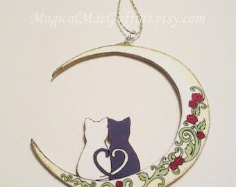 BSSM Magical Girl Sailor Moon Luna & Artemis Crescent Moon Love Ornament
