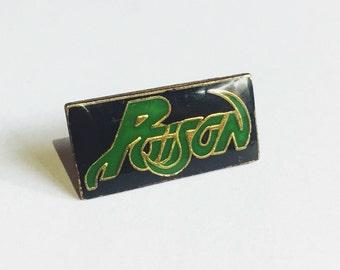 Poison vintage 80s lapel pin