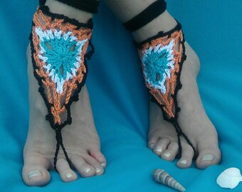 Dreamcatcher Handmade Crocheted Summer Adult Barefoot Sandals