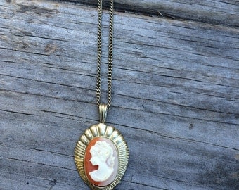 Vintage Silhouette Necklace, Costume Jewelry