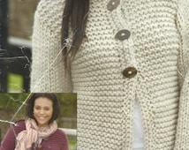 Instant Download - PDF-Lovely Super Chunky Jacket Knitting Pattern (K37)