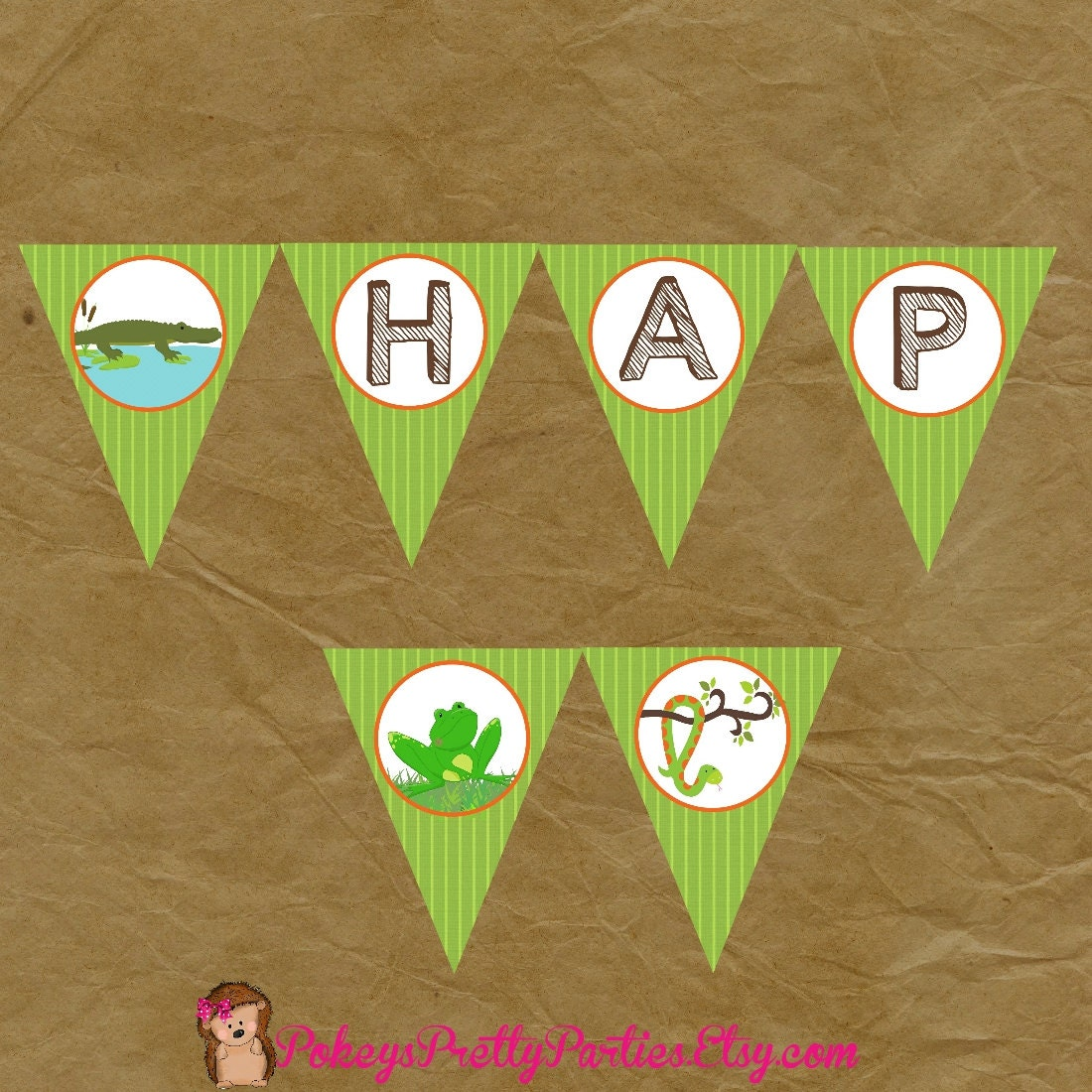 REPTILE Birthday Party PERSONALIZED Banner