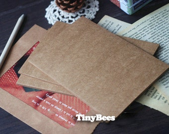 Brown Kraft Paper Blank Postcards (10 pc / 10cm x 15cm) Diy Postcards for Gift Packaging and Scrapbooking C0029
