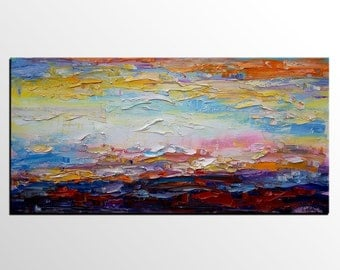 Abstract Landscape Painting, Original Art, Wall Art, Large Art, Oil Painting, Canvas Art, Abstract Art, Contemporary Art, Abstract Painting
