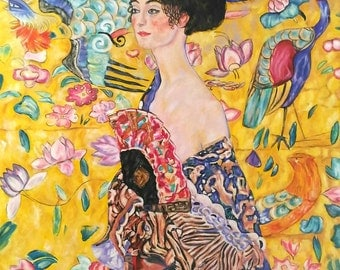 "Art Reproduction - Klimt - ""signora con ventaglio"" - Lady with Fan"