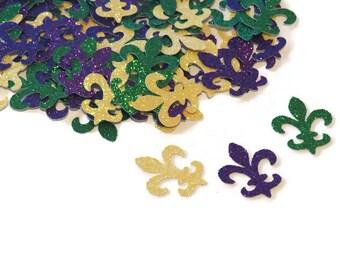 Fleur de Lis confetti, Mardi Gras Decorations, New Orleans, 75CT, French wedding decor, Paris bridal shower, bachelorette, sweet 16, France