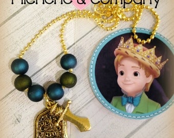 6 - Prince James Knight Boy Necklace Party Favors Sofia the First Party Favor Sofia the First Birthday Prince James Knight Party Favor