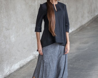 PANTS, Harem PANTS, Sarouel, Extravagant Linen Pants, Gray Sarouel, Extravagant Loose Bottom Pants, Drop Crotch Pants, Women Trousers