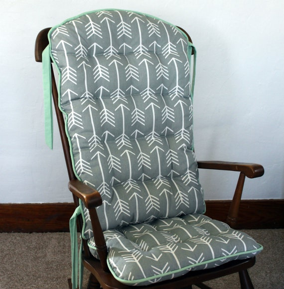 Custom Tribal Arrow Rocking Chair Cushions, Glider Replacement Pads ...
