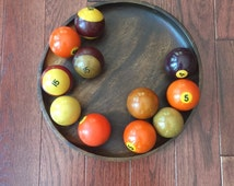 Set of 11 Bakelite Pool Balls, Antique Billiard Balls