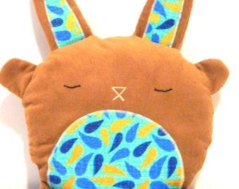 Stuffed Animal, Bunny Rabbit, Stuffed Toy, Bunny Softie, Baby Wale Corduroy - Hand Embroidered Face