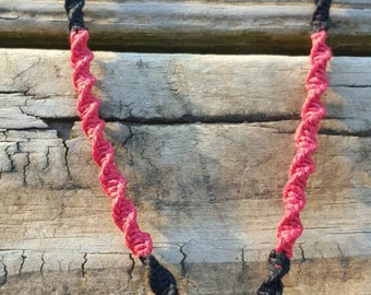 Psychopathic Hatchet Love Hemp Necklace