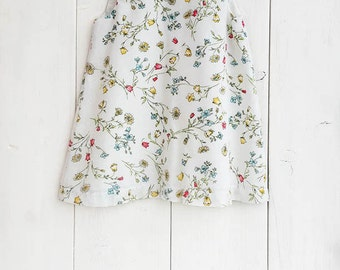 Baby printed cotton dress, baby dress, toddler dress, girls dress,baby floral dress, baby print dress