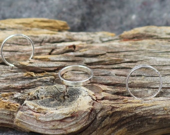 Thick Sustainable Sterling Silver Band. Stacking ring. Handmade in Canada.- eco-friendly - fair trade