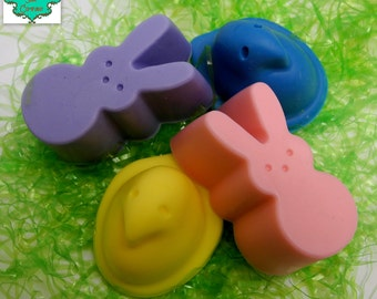 Peeps Inspired soap bars - Peep soap, Easter soap, Easter Basket, Easter Party Favor, Easter Gift, Shea Butter Soap, Handmade Soap