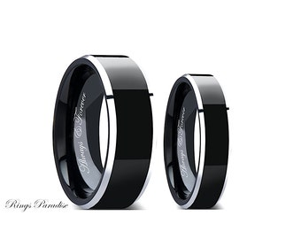 wolf ring couples wedding ring wedding band sets by