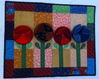 Upstanding Quilted  Wall Hanging
