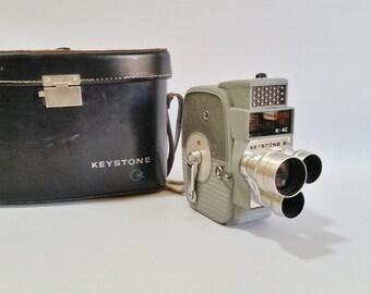 Art Deco Camera, Vintage Movie Camera, Keystone K-4C 8mm Movie Camera