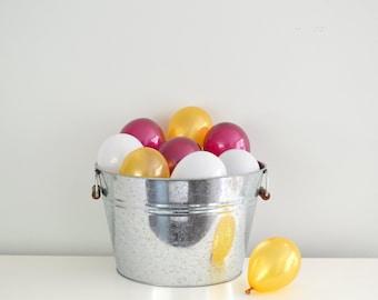 "5"" Mini Balloons - Gold & Burgundy // 12 Pack // Wedding - Birthday Decor // Small Tiny Latex // Gold // USC // 49ers"