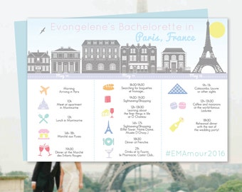 Paris Itinerary, Trip Itinerary, Wedding Itinerary, Destination Itinerary, French Pastels, Parisian Theme Travel Essential