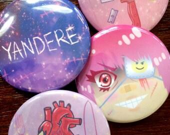 Yandere Button Set