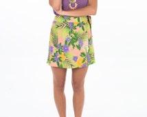 Begonia Skirt /High Waist Skirt/ Wrap Around Skirt/ Summer Skirt /Beach Skirt /Festival Skirt