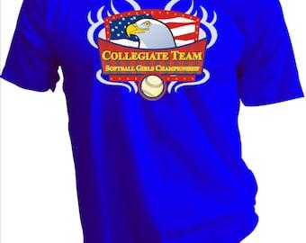College Girls Softball Tee