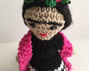 Frida Kahlo amigurumi, Frida crochet, Frida amigurumi,Frida doll, Doll