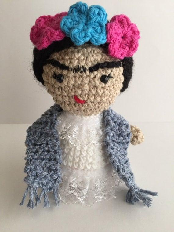 Frida Doll Frida Kahlo Amigurumi Doll handmade doll Frida