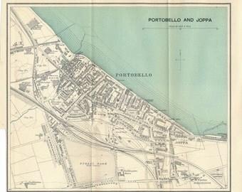 1937 Portobello & Joppa (Edinburgh) Scotland Antique map