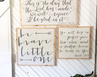 Be brave little one framed wood sign *Nursery Wood Sign