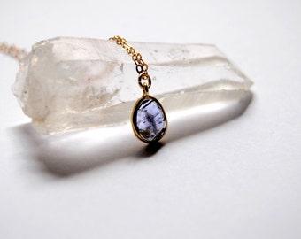 SALE! Iolite necklace, 14Kt Gold Chain necklace, Gold necklace, Gemstone Necklace