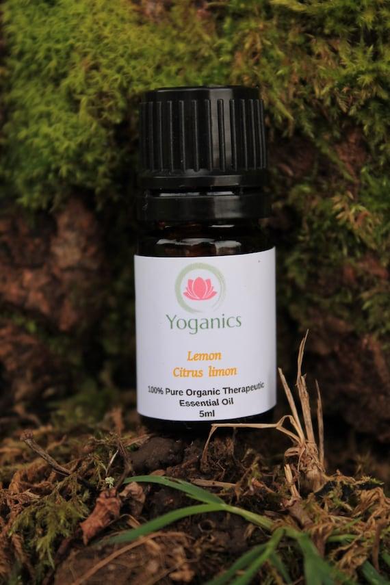Lemon Essential Oil - USDA Organic - 100% Pure Grade Therapeutic - Glass Dropper - No GMO/Chemicals - Spend 50.00 Get 1 FREE 5ml Roller