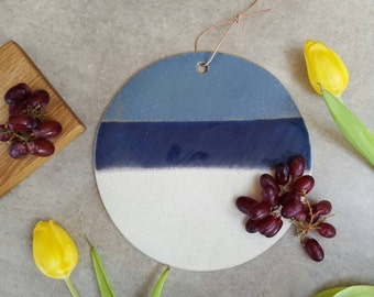 Landscape Platter Cheese Plate Ceramic Wall Hanging