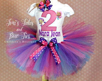 Bubble Guppies Birthday Outfit. Bubble Guppies 1st Birthday. Bubble Guppies Party. Birthday Tutu Set. Bubble Guppies 2nd birthday