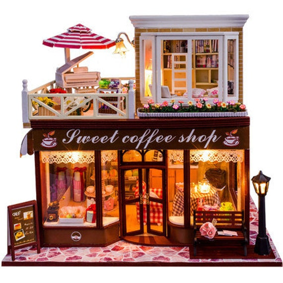 Items Similar To Diy Dollhouse Miniature Coffee Shop Cafe