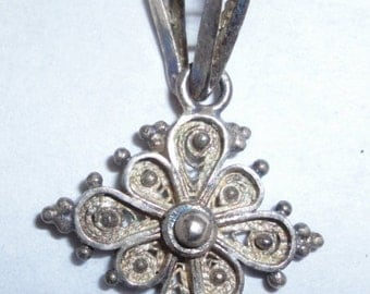 Sterling Silver Filagree Pendant