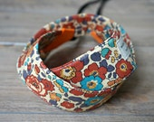 Orange Camera Strap - Floral DSLR Camera Strap - Liberty of London Orange Floral Sling - Photo Shooting Accessories