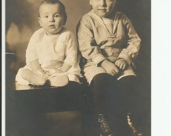 Vintage photo of two Children