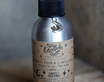 SWEET DREAMS Kids Natural Room & Linen Spray - Made with pure essential oils - No artificial fragrances, phthlates, alcohol, formaldehyde