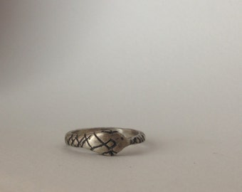 Sterling Silver Ouroboros ring, Snake ring, MADE TO ORDER