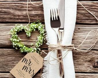Thank You Wedding Tags, Rustic Wedding Tag, Gift Tag, Wedding Favor, Thank you tag printable, editable pdf, instant download