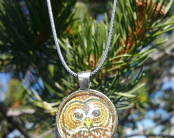 Spotted Owl Pendant Necklace