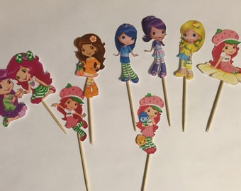 Strawberry Shortcake and her friends Cupcake toppers